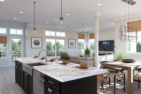 Plan E: Kitchen/Dining/Great Room