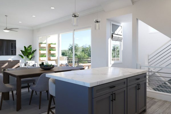 Plan F: Kitchen/Dining/Great Room