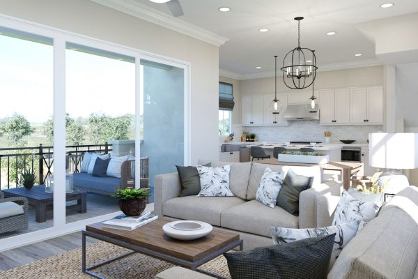 Plan G: Great Room/Dining/Kitchen