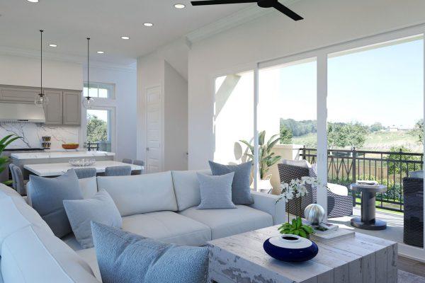 Plan H: Great Room/Deck/Kitchen