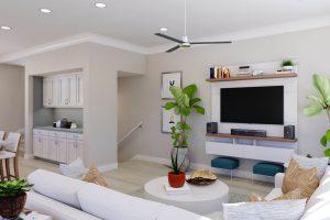 Plan 3 & 3X: Living/Kitchen