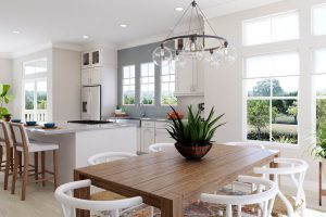 Plan 3 & 3X: Dining/Kitchen/Living